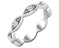 Contemporary Twisted Band With Round Brilliant Cut Diamonds