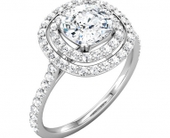 Classic Cushion Cut Double Halo Engagement Ring