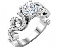 Vintage Swirl Designed Diamond Engagement Rings