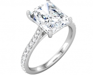 Contemporary Cathedral Styled Diamond Engagement Ring
