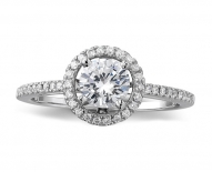 Classic Vintage Single Halo Engagement Ring