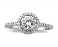 Classic Vintage Single Halo Engagement Ring