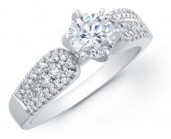 Petite Vintage Looped Engagement Ring